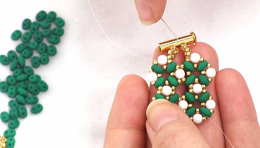 How to do a Modified Right Angle Weave with Two Hole Beads