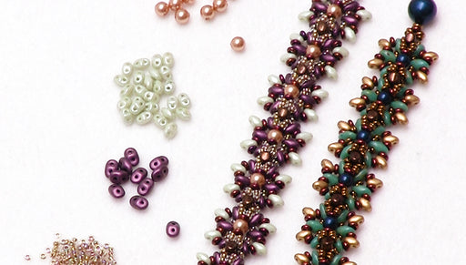 How to Make the Sunburst Bracelet using Toho Demi Round Seed Beads