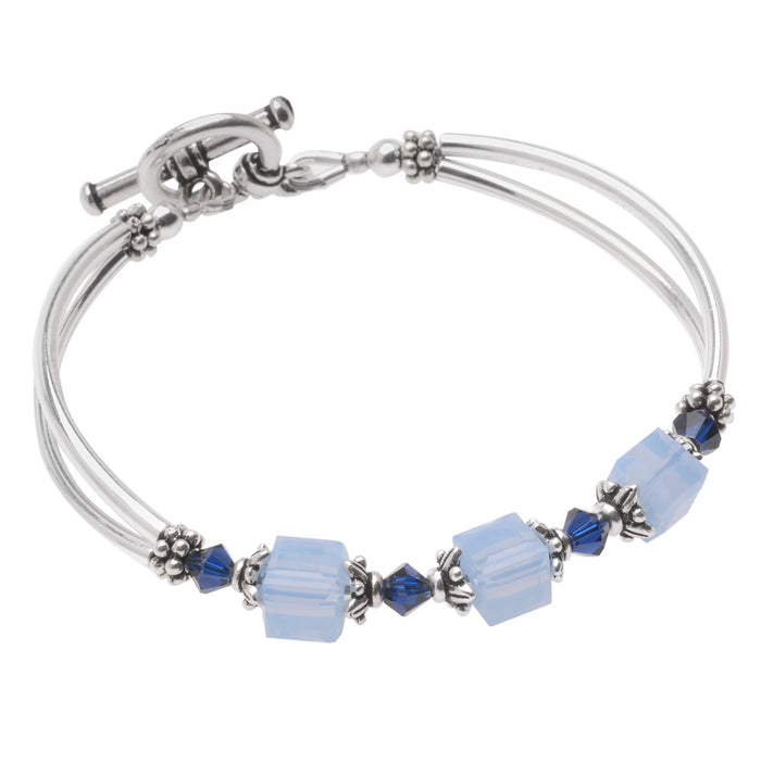 Retired - Blue Colette Bridesmaid Bracelet