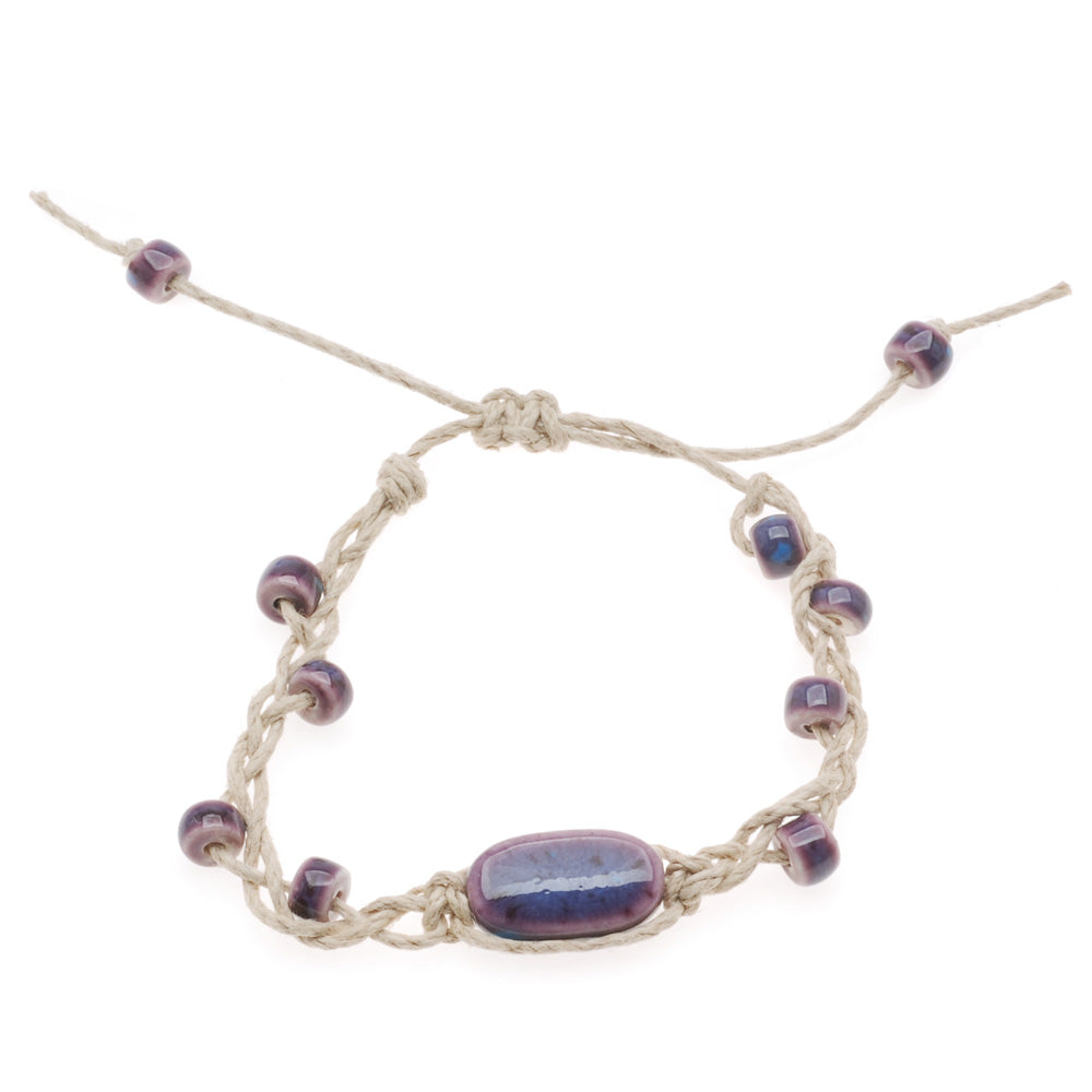 Retired - Plum Purple Braided Bracelet