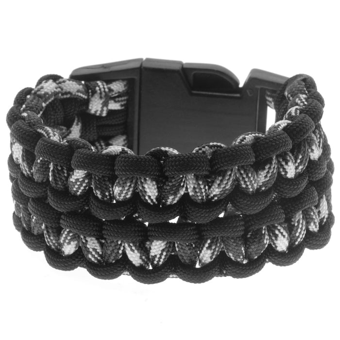Retired - Wide Double Cobra Paracord Bracelet - Camo and Black