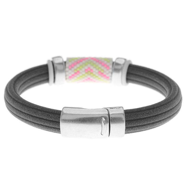 Retired - Neon Peyote Regaliz Bracelet