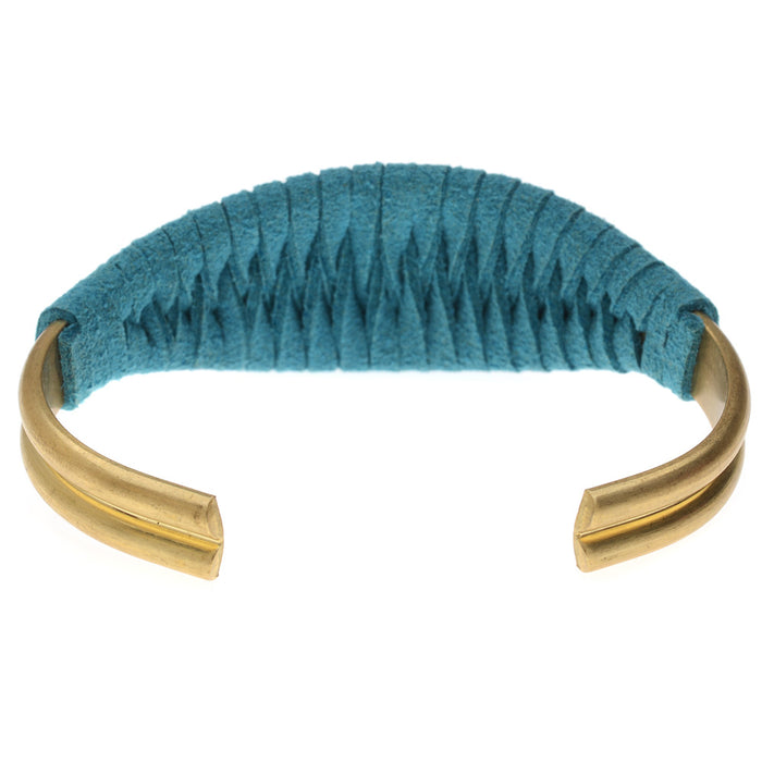 Retired - The Laced Up Cuff in Turquoise