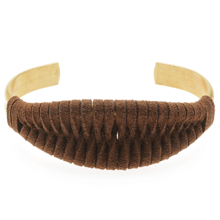 The Laced Up Cuff in Brown