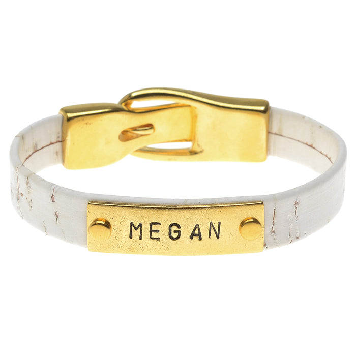 Retired - Name Plate Regaliz Cork Bracelet