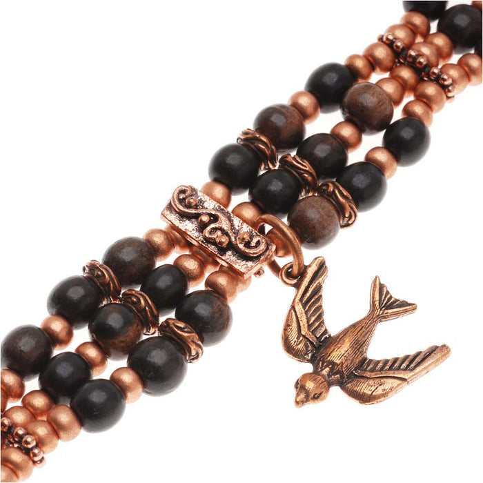 Retired - Little Wooden Bird Bracelet