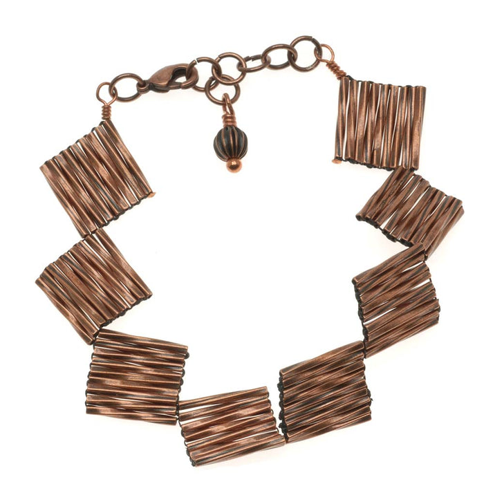 Retired - Twisted Squares Copper Bracelet
