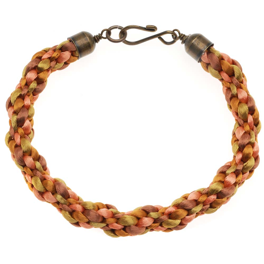 Retired - Honey Butter Kumihimo Bracelet