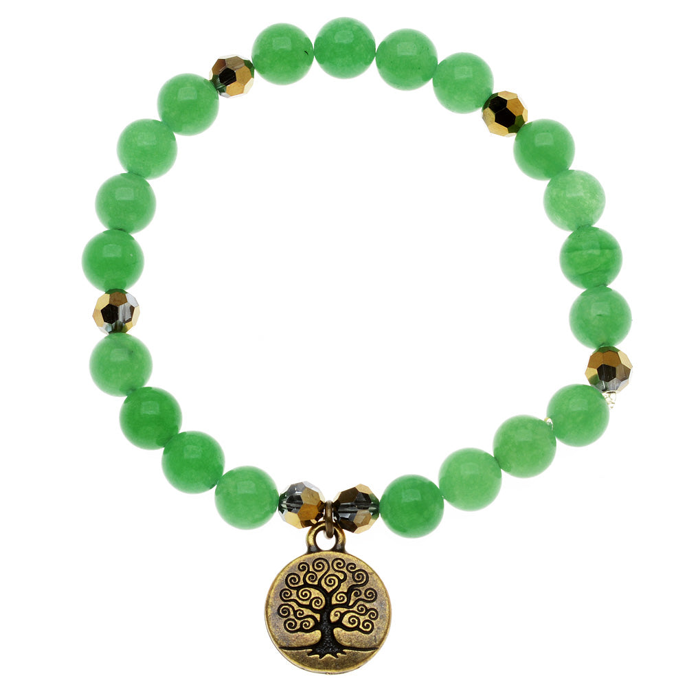 Retired - Green and Gold Tree of Life Bracelet
