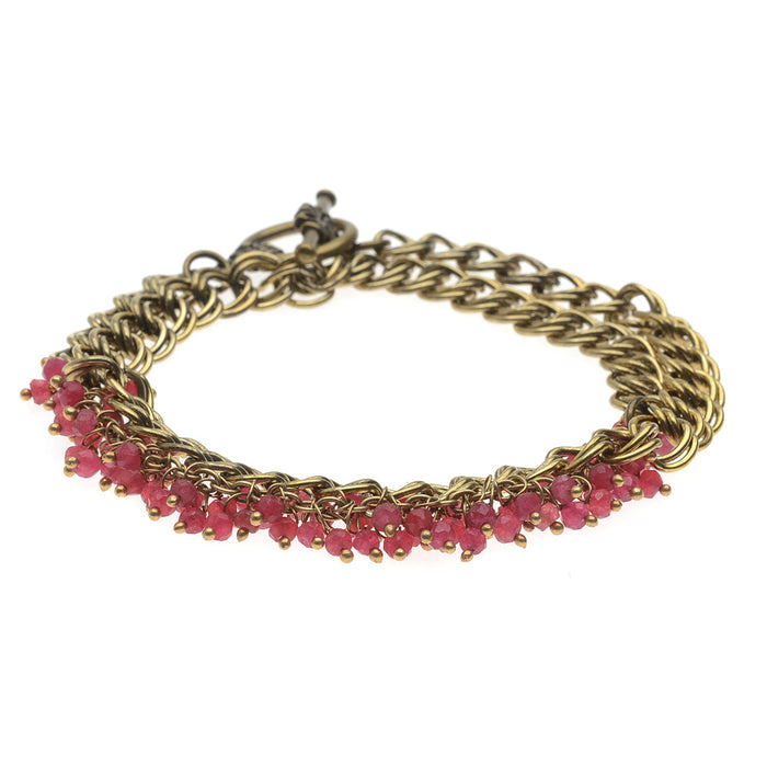 Wrapped in Ruby Bracelet