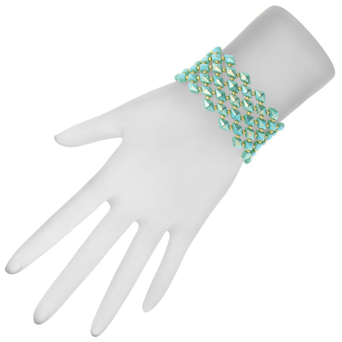 DiamonDuo Fish Scales Bracelet in Teal