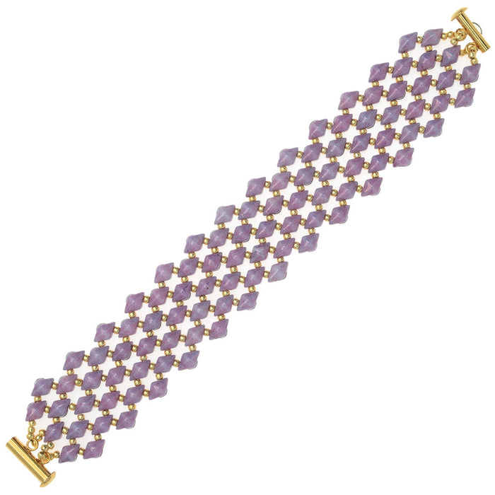 DiamonDuo Fish Scales Bracelet in Purple