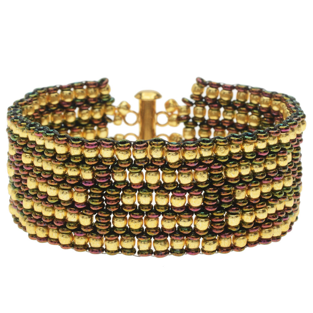 Golden Olives Peyote Bracelet