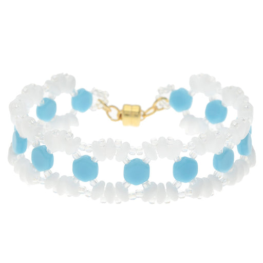 Lizzie Honeycomb Bracelet in Blue