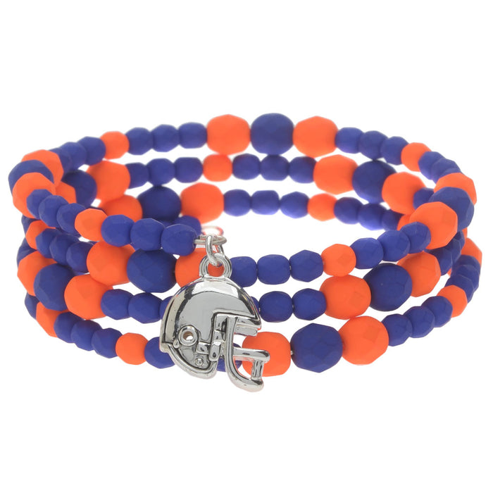 Retired - Football Memory Wire Bracelet