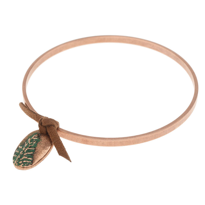 Retired - Copper Redwood Bangle