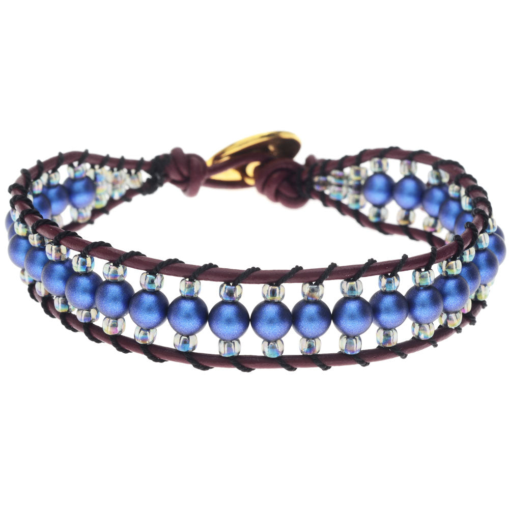 Blueberry Pie Leather Bracelet