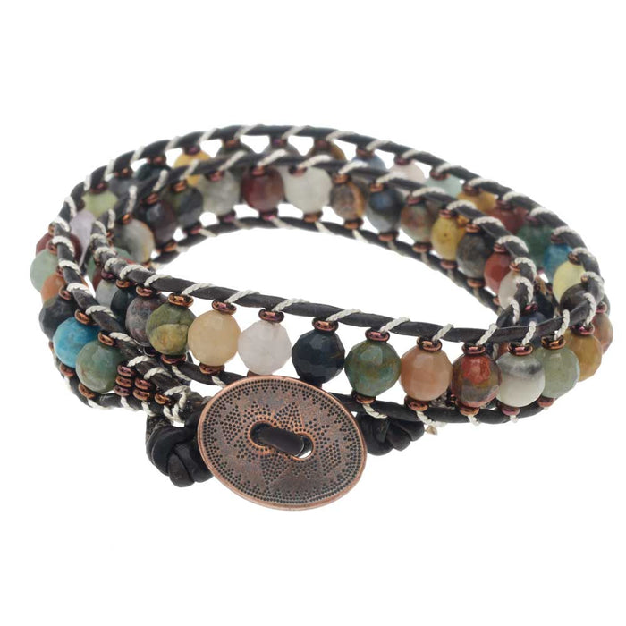Retired - Leather Duo Wrap It Bracelet