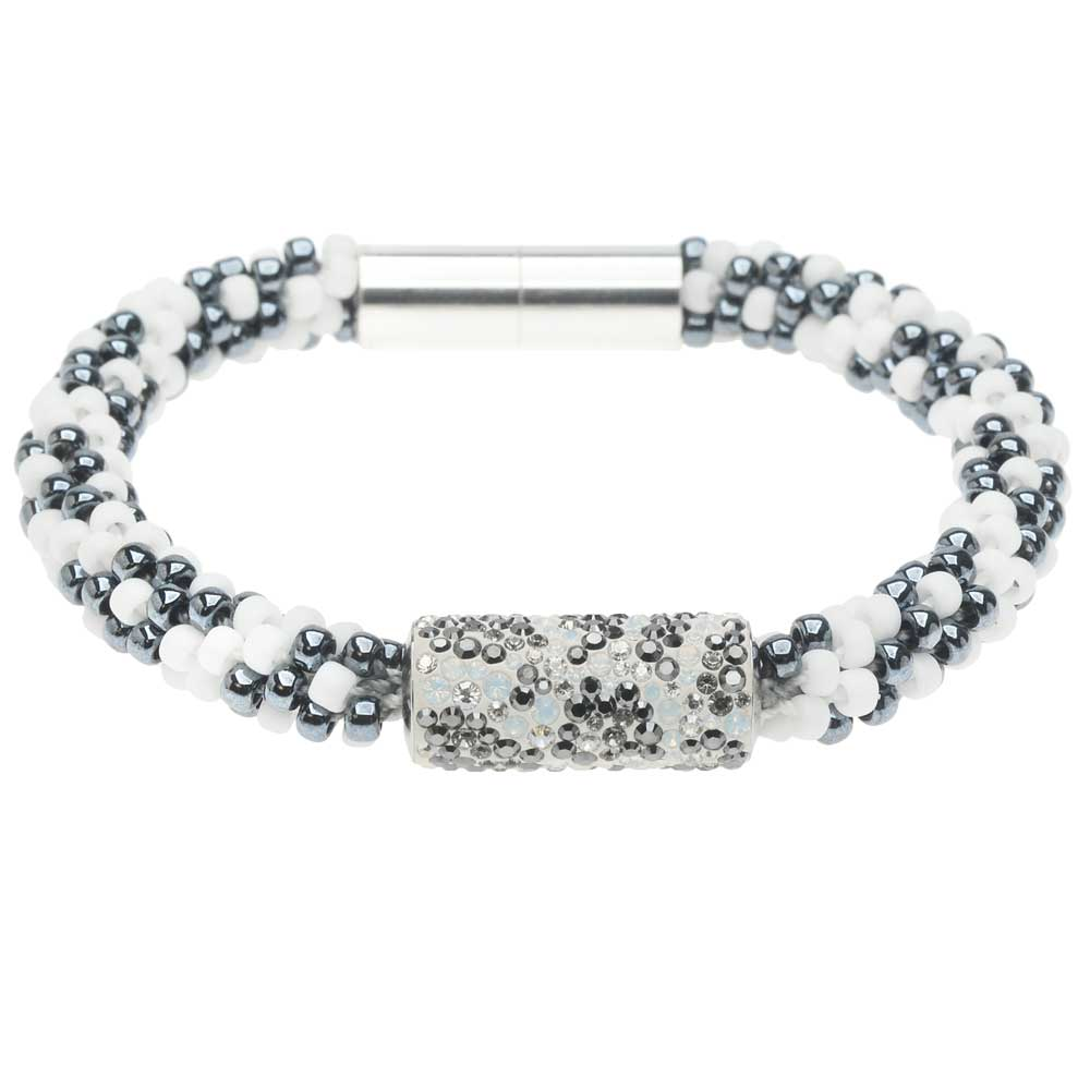 Retired - Snow Leopard Kumihimo Bracelet