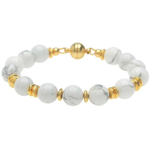 Antigua Beaches Bracelet in White Howlite