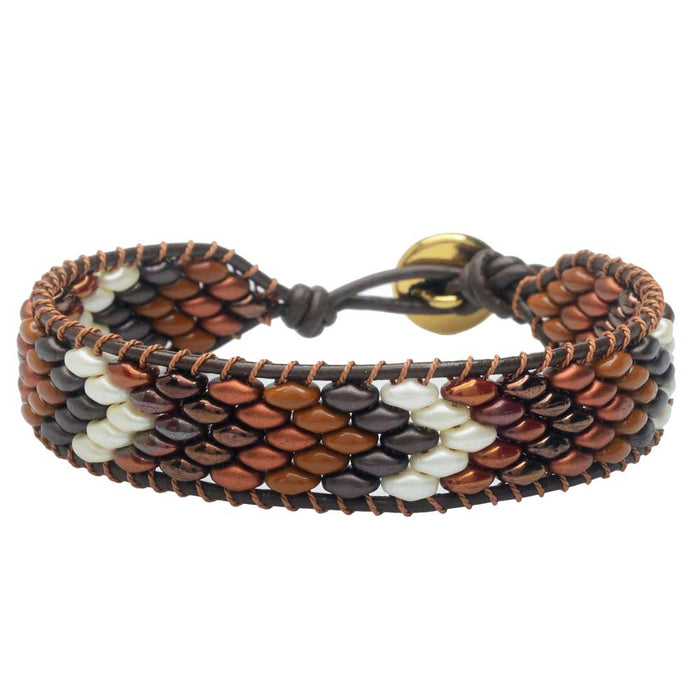 SuperDuo Wrapit Loom Bracelet in Jasper
