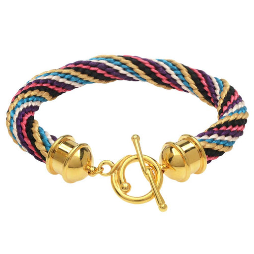 Golden Queen Kumihimo Bracelet