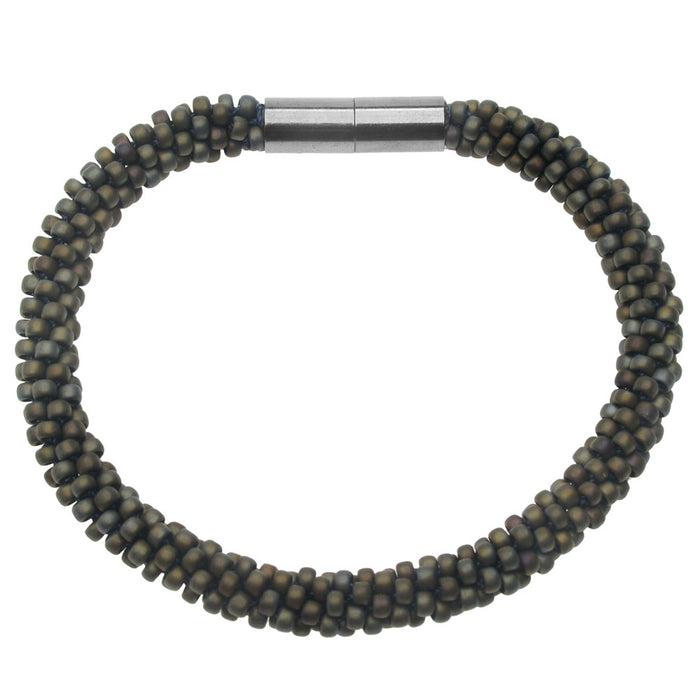 Into the Darkness Kumihimo Bracelet