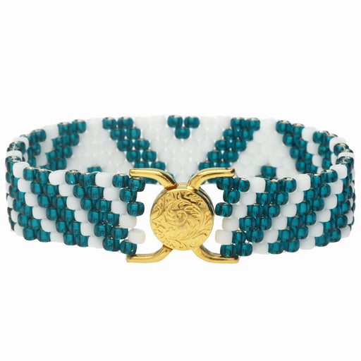 Tabitha Peyote Bracelet in Teal