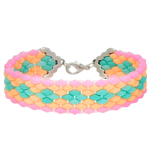 Summertime Party SuperDuo Bracelet in Silver