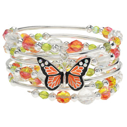 Monarch Butterfly Memory Wire Bracelet