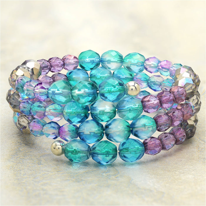 Mermaid Island Memory Wire Bracelet