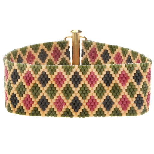 Autumn Argyle Peyote Bracelet