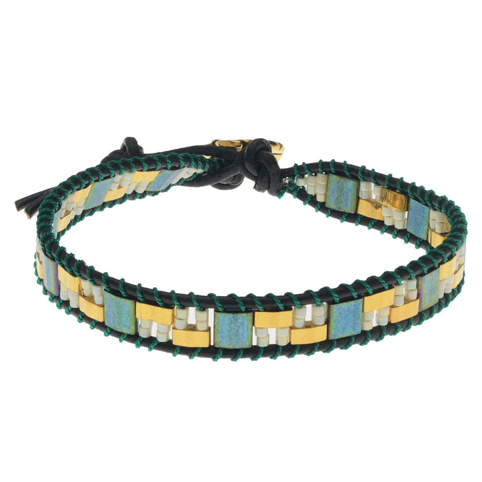Tropical Monstera Wrapit Bracelet