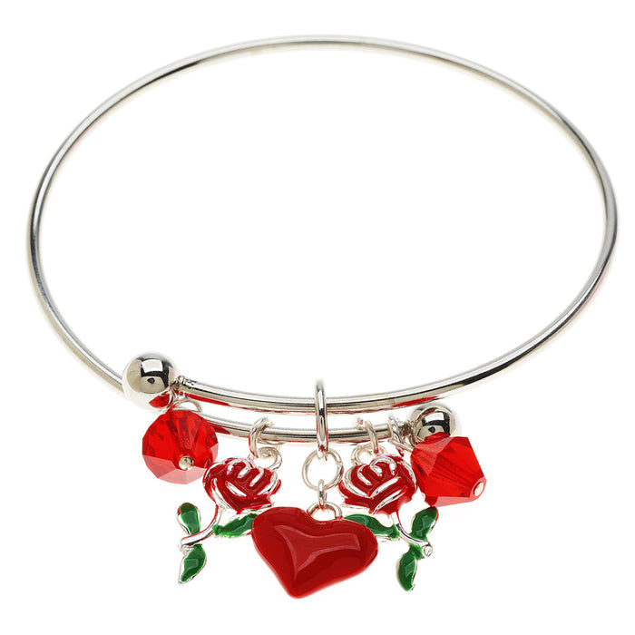 Retired - Love in Bloom Charm Bangle