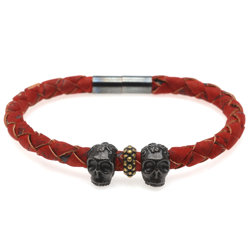 Retired - Men's Skull Cord Bracelet