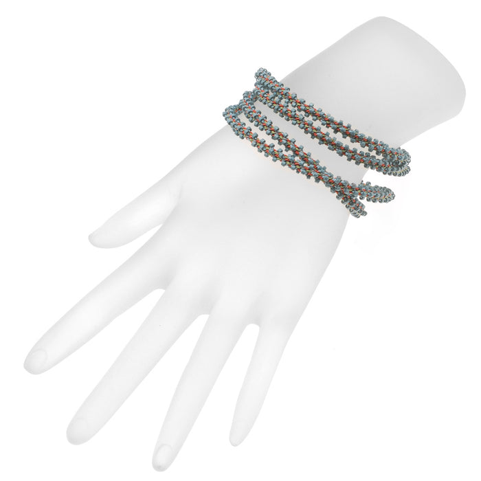 Retired - Marseille Beaded Kumihimo Wrap Bracelet