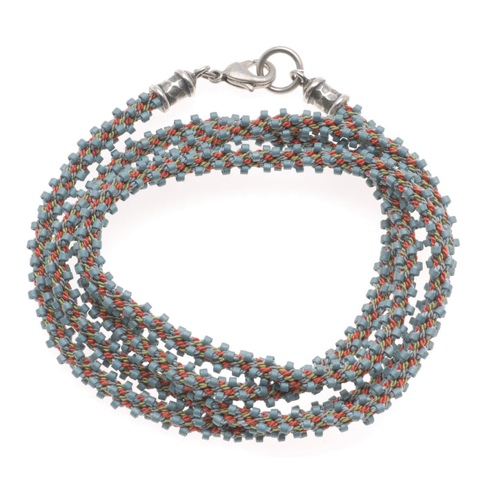 Marseille Beaded Kumihimo Wrap Bracelet