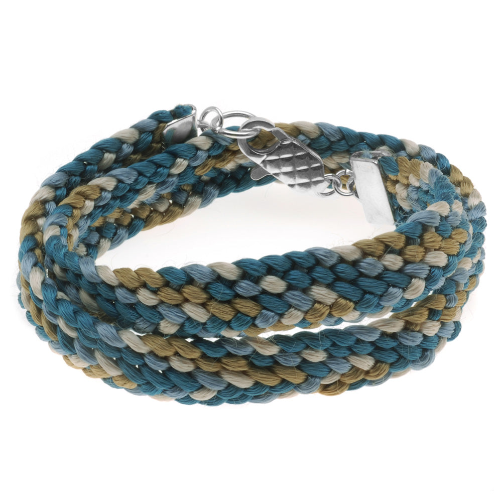 Retired - Chino Kumihimo Flat Braid Wrap Bracelet
