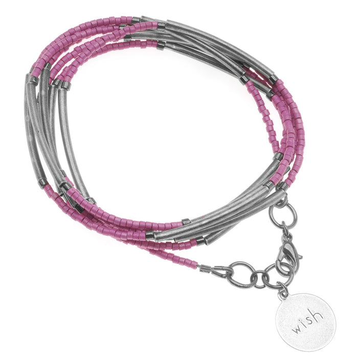 'Wish' Noodle Bead Wrap Bracelet