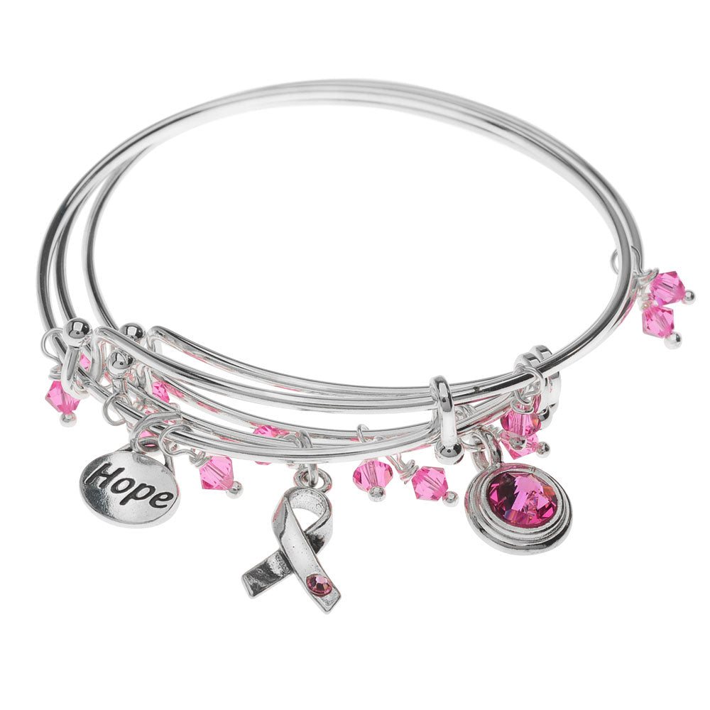 Retired - Hope For A Cure Bangle Set