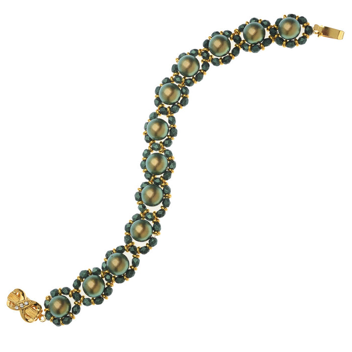 Green Sateen Bracelet