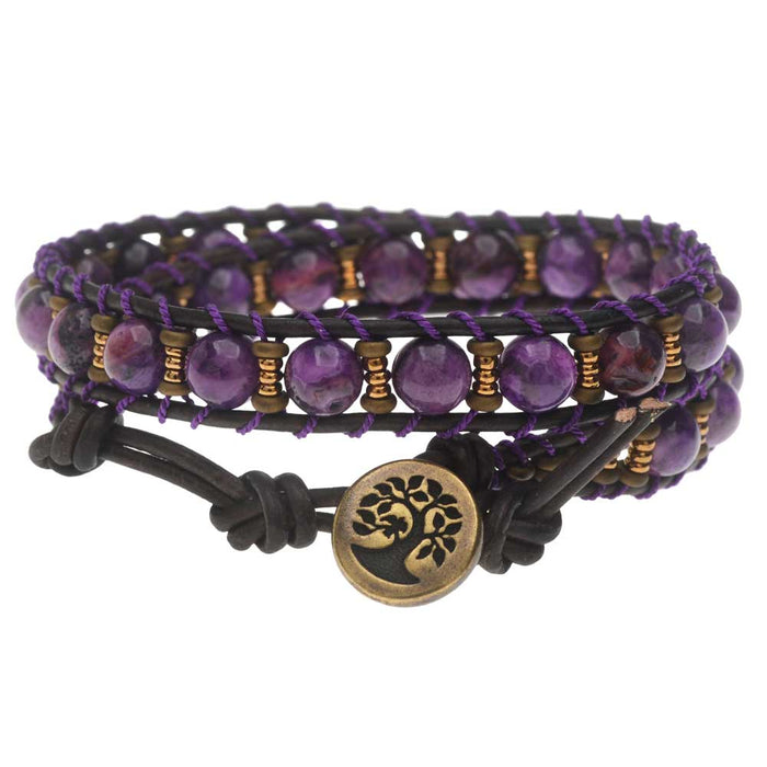 Purple Mountain Majesties Wrap Bracelet