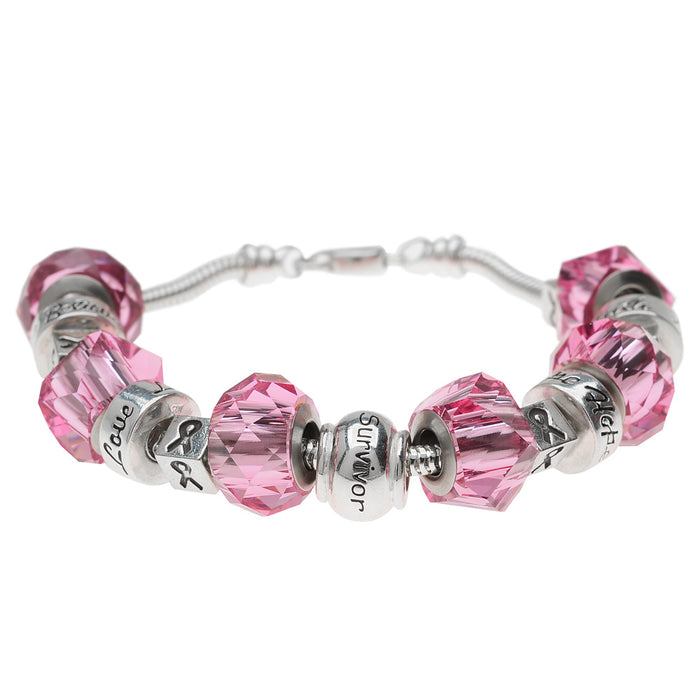 Retired - Breast Cancer Awareness European Style Bracelet