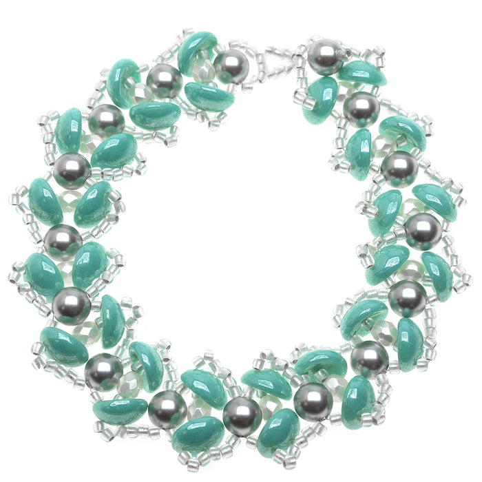 Water Lily Bracelet in Turquoise