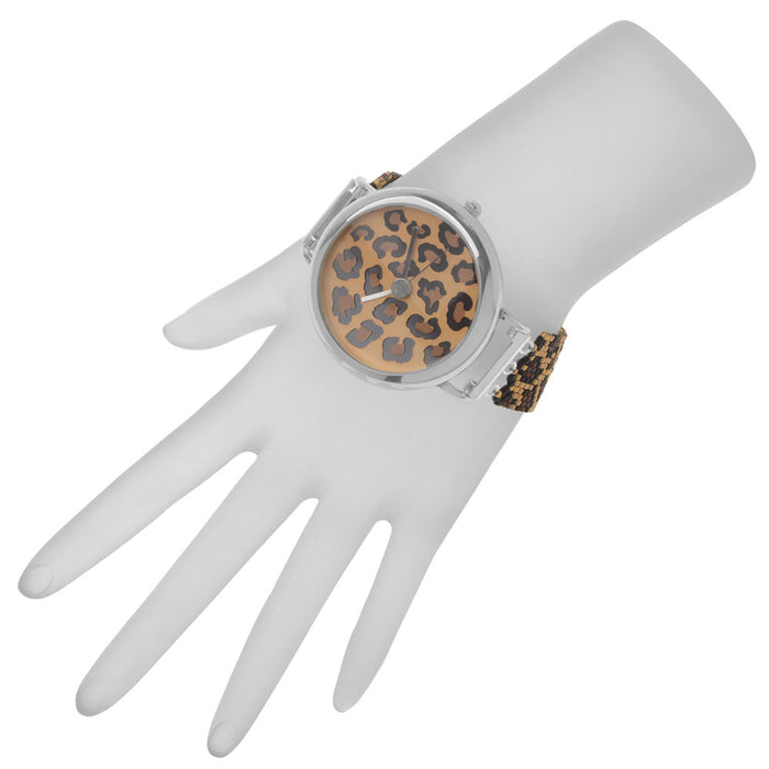 Retired - Leopard Print Beaded Watch