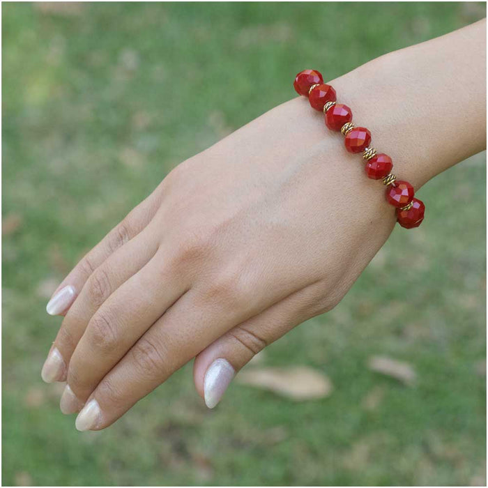 Retired - Red Velvet Stretch Bracelet