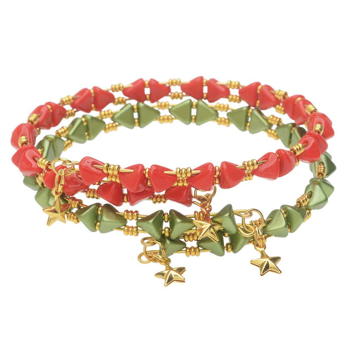 Holiday Super Kheops Par Puca Memory Wire Bracelet Set