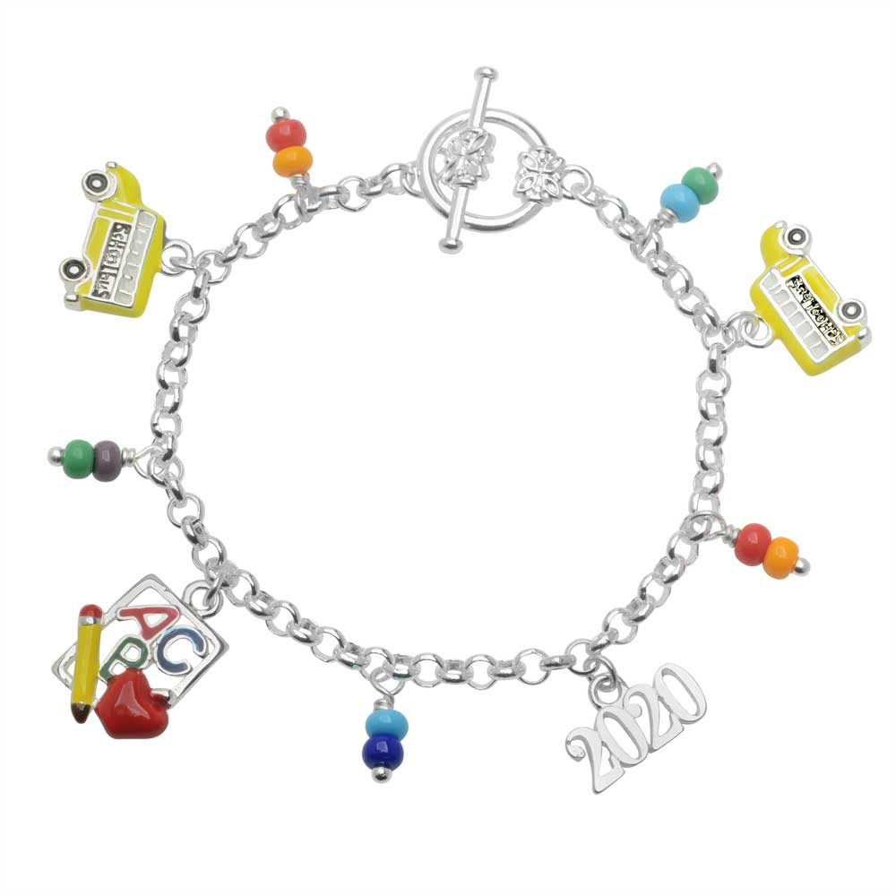 Retired - Back to School Charm Bracelet