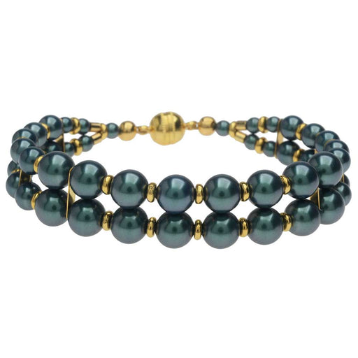 Windsor Bracelet in Iridescent Tahitian Look Pearl