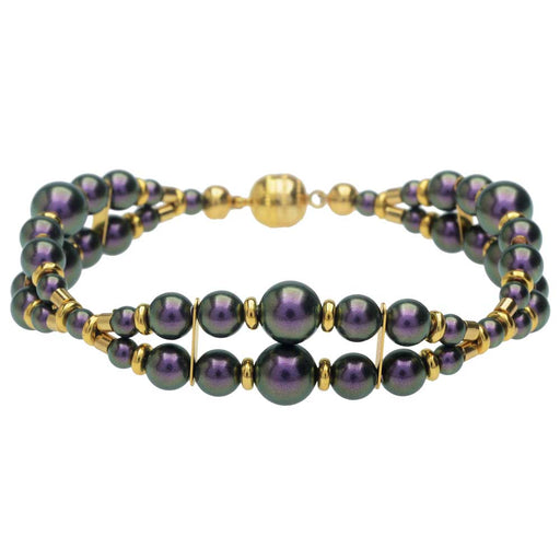 Windsor Scalloped Bracelet in Iridescent Purple